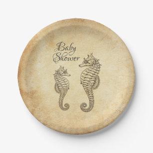 Vintage Seahorses Ocean Beach Baby Shower Paper Plate  sc 1 st  Zazzle & Seahorse Plates | Zazzle.co.uk