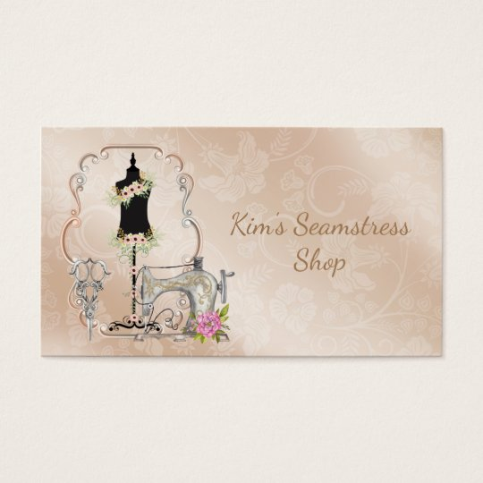 Vintage seamstress business card zazzle vintage seamstress business card reheart Image collections