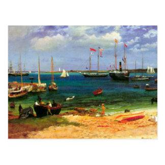 Vintage Seascape, Nassau Harbor by Bierstadt Postcard