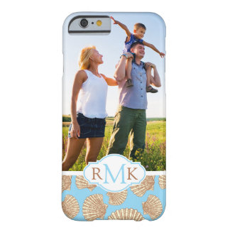 Vintage Seashell Pattern| Your Photo & Monogram Barely There iPhone 6 Case