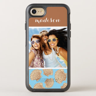 Vintage Seashell Pattern | Your Photo & Name OtterBox Symmetry iPhone 8/7 Case
