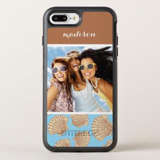 Vintage Seashell Pattern | Your Photo & Name OtterBox Symmetry iPhone 8 Plus/7 Plus Case