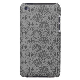 Vintage Seashells Charcoal Gray Shells iPod Touch Case-Mate Case