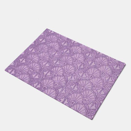 Vintage Seashells Lavender Purple Doormat