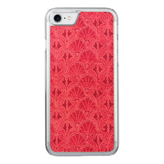 Vintage Seashells Red Carved iPhone 8/7 Case