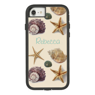 Vintage seashells shabby chic beach starfish Case-Mate tough extreme iPhone 8/7 case