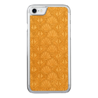 Vintage Seashells Yellow Gold Mango Carved iPhone 8/7 Case