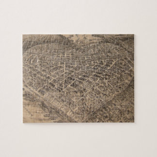 Vintage Seattle Heart Map (1905) Jigsaw Puzzle