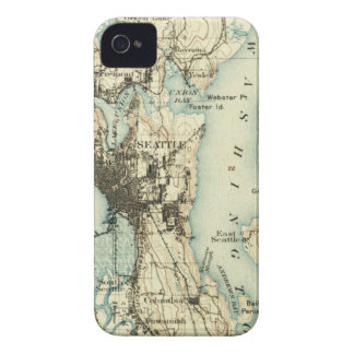 Vintage Seattle Map Case-Mate iPhone 4 Case