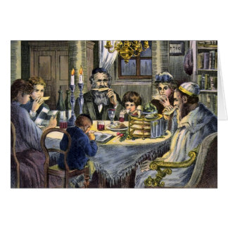 Vintage Seder Greeting Card