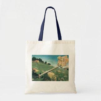 Vintage See Saw Margery Daw, Jessie Willcox Smith Budget Tote Bag
