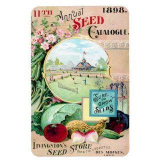 Vintage Seed Catalog Des Moines Magnet