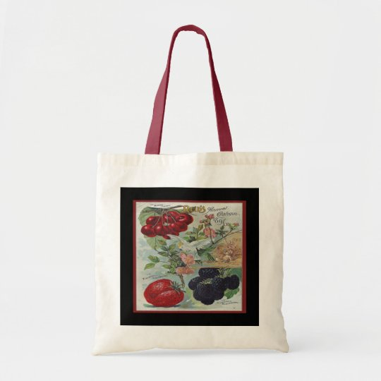 vintage seed catalogue tote bag