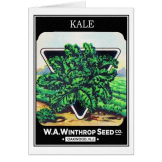 Vintage Seed Package Kale Vegetables Greeting Card