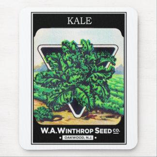 Vintage Seed Package Kale Vegetables Mouse Pad