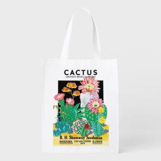 Vintage Seed Packet Label Art, Cactus Plants