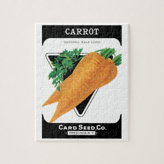 Vintage Seed Packet Label Art, Danvers Carrots Jigsaw Puzzle