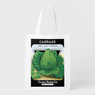 Vintage Seed Packet Label Art, Head of Cabbage