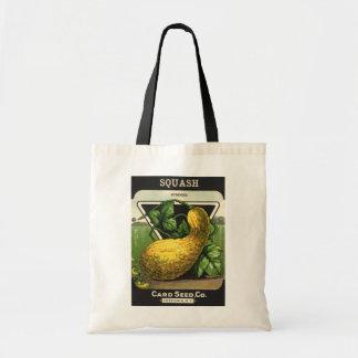 Vintage Seed Packet Label Art, Summer Squash