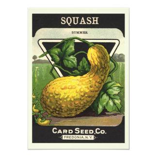 Vintage Seed Packet Label Art, Summer Squash Cards