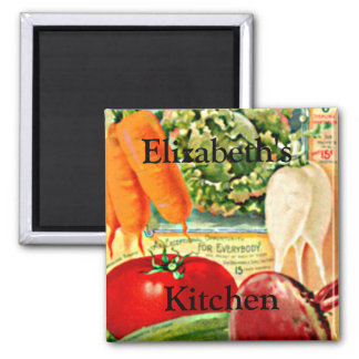 Vintage Seed Packet-Vegetables Personalize it! Square Magnet