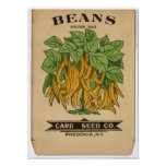 Vintage Seed Packets Poster