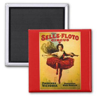 Vintage Sells-Floto Circus Poster Magnet