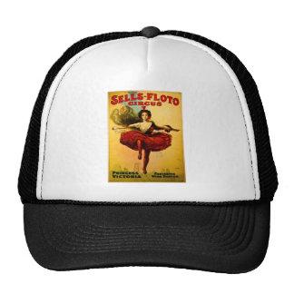 Vintage Sells-Floto Circus Poster Wire Walker Mesh Hat