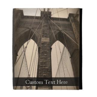 Vintage Sepia Brooklyn Bridge iPad Cases
