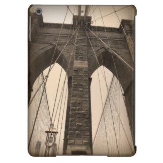Vintage Sepia Brooklyn Bridge New York iPad Air Cover