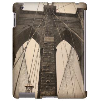 Vintage Sepia Brooklyn Bridge New York iPad Case