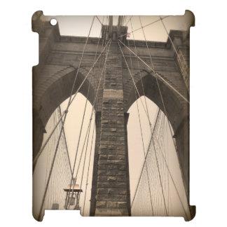 Vintage Sepia Brooklyn Bridge New York iPad Cases