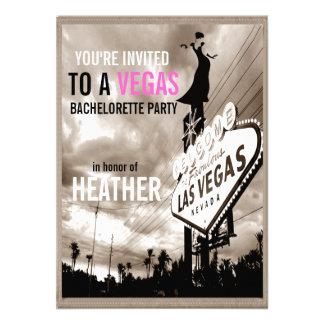 Vintage Sepia Las Vegas Modern Bachelorette Party Announcement