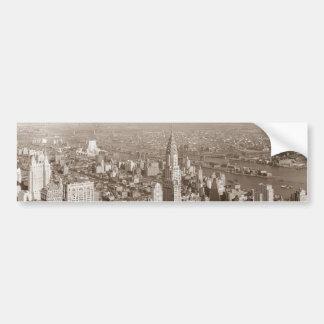 Vintage Sepia Tone New York Bumper Stickers
