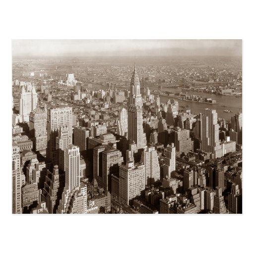 Vintage Sepia Tone New York Post Card
