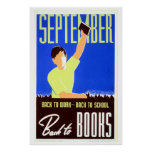 Vintage september back to work, school, books WPA
