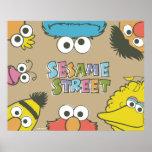 Vintage Sesame Street Pals Poster