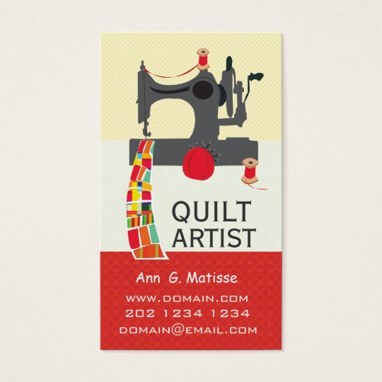 Vintage Sewing Machine Bold Crafts Quilt Artist Business