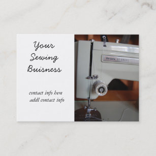 Vintage sewing machine business cards business card printing vintage sewing machine business cards reheart Image collections