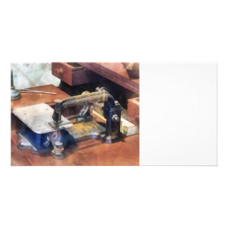Vintage Sewing Machine Circa 1850 Photo Card