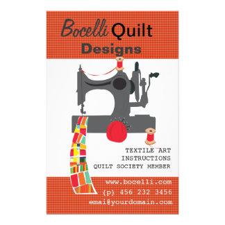 Vintage Sewing Machine Quilting Textile Artist 14 Cm X 21.5 Cm Flyer