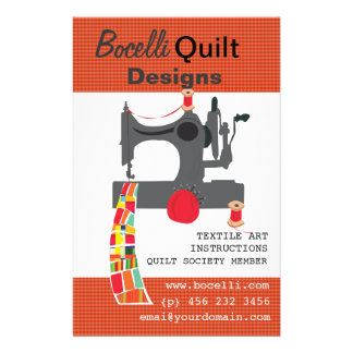 Vintage Sewing Machine Quilting Textile Artist Flyer