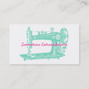 Vintage sewing machine business cards business card printing vintage sewing machine seamstress business card reheart Image collections