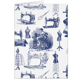 Vintage Sewing Toile Card