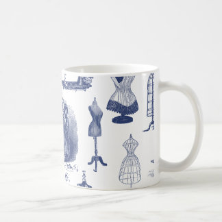 Vintage Sewing Toile Coffee Mug