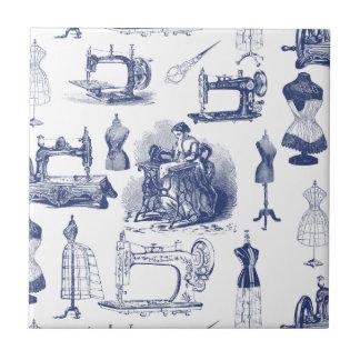 Vintage Sewing Toile Tiles