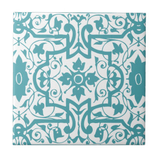 Vintage shabby and chic art nouveau ceramic tile