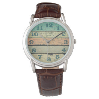 Vintage Shabby Beach Boards Rustic Decorative Wood Watch