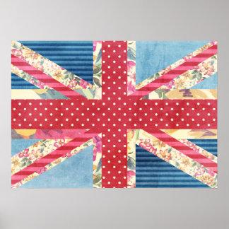 Vintage Shabby Chic | British Flag Poster