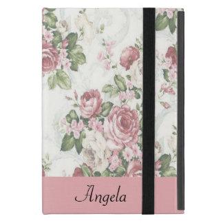 Vintage Shabby Chic Flowers-Personalized iPad Mini Case